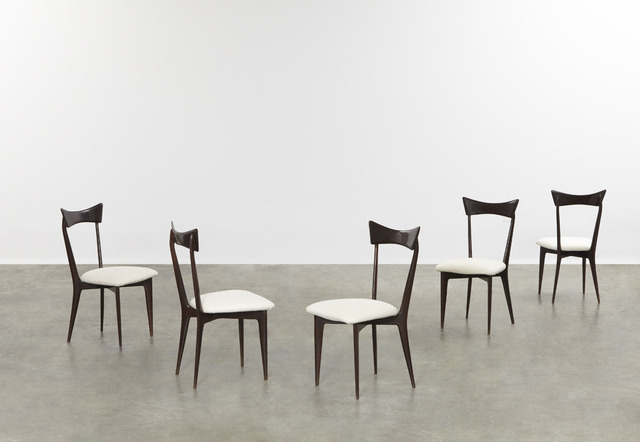 , 'Set of five dining chairs,' ca. 1945, Sebastian + Barquet