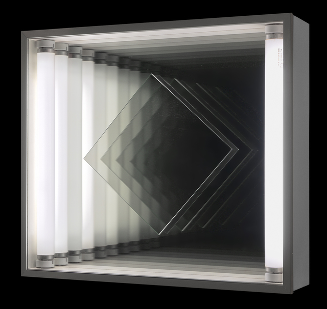 , 'Light kinetic - turning square in an endless room,' 1973, Galerie Denise René