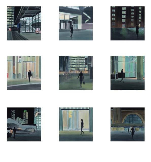, 'City Night Set of 9,' 2017, Jill George Gallery
