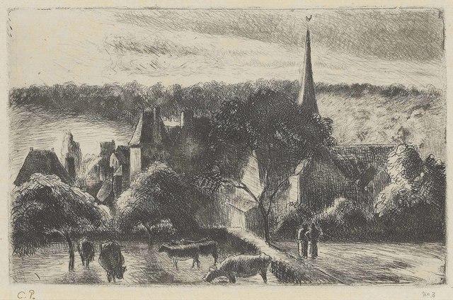 Camille Pissarro, 'Église et Ferme d'Eragny', 1890, Christie's