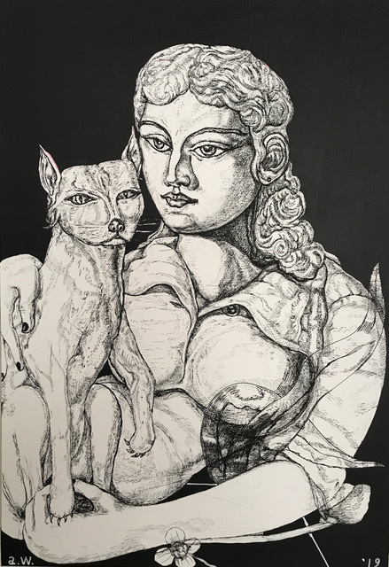 , 'Woman with Cat,' 2019, Long & Ryle