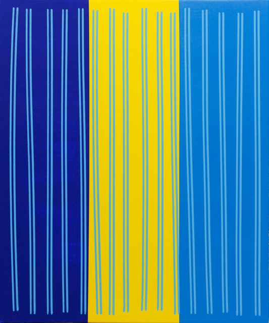 , 'Simple Line Set (Brill Blu/Yelo/Cobalt Blu),' 2014, Newzones