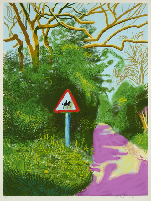 David Hockney, 'The Arrival of Spring in Woldgate, East Yorkshire in 2011 – 5 May 2011,', 2011, DELAHUNTY