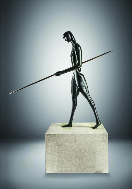 Antonio Signorini, 'Guardiano della Memoria', 2018, Sculpture, Bronze - Black Patina, 71 STRUCTURAL ART