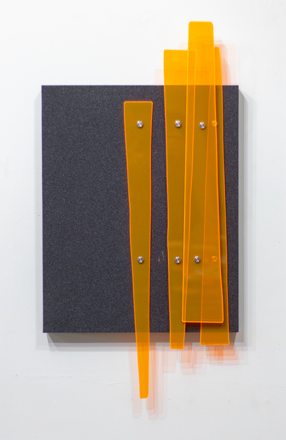 Curtis Taylor, 'Wall Panel', 2019, Sculpture, Grip tape, fluorescent acrylic, aluminum standoffs on wood panel, Dab Art
