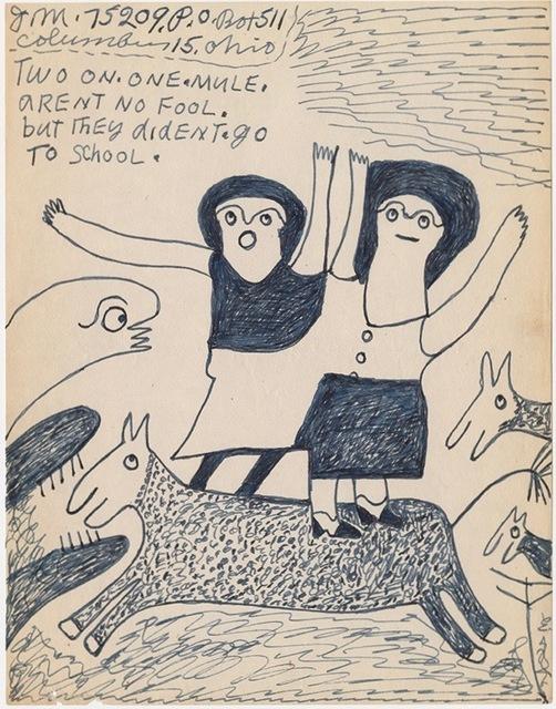 ", '""Two on. one. mule"" ,' n.d, Ricco/Maresca Gallery"