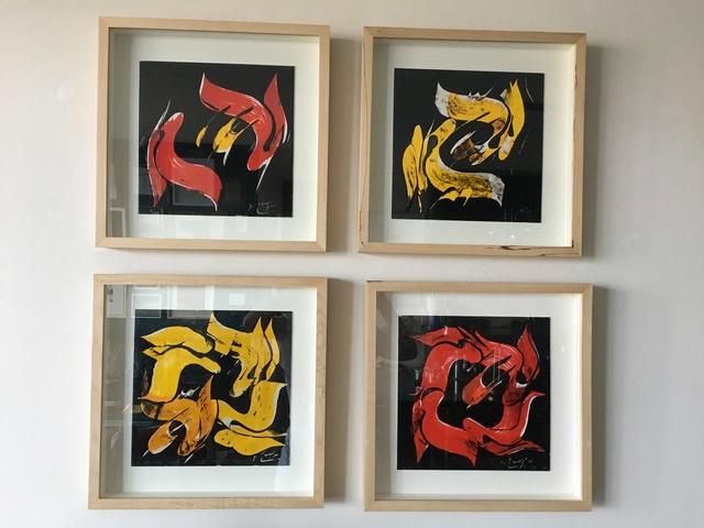 Mohammad Ehsai, 'untitled', 2011, Painting, Calligraphy / Mixed Media on Cardboard, Sahar K. Boluki Gallery