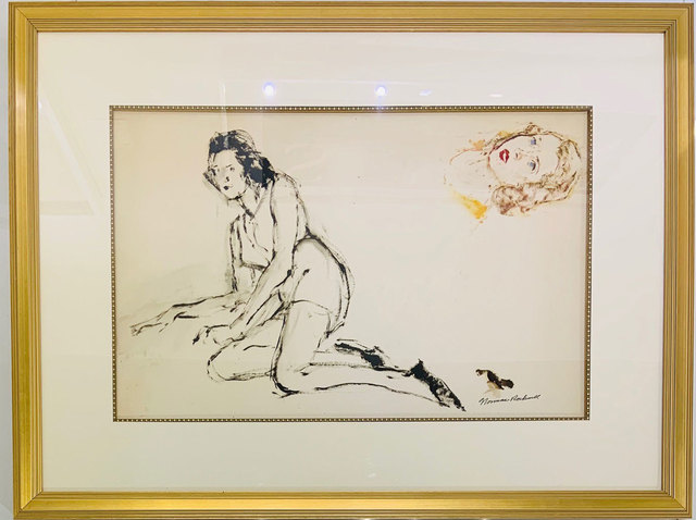 , 'Untitled (reclining female portrait study),' ca. Circa 50s, Robert Fontaine Gallery