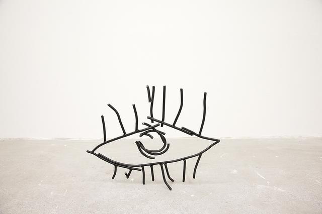 """, '""""Abetare (Eye)"""", 2017 Steel sculpture 39 × 49 × 7 cm,' 2017, ChertLüdde"""