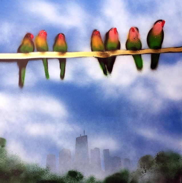 , 'Lovebirds over Chicago,' 2017, Vertical Gallery