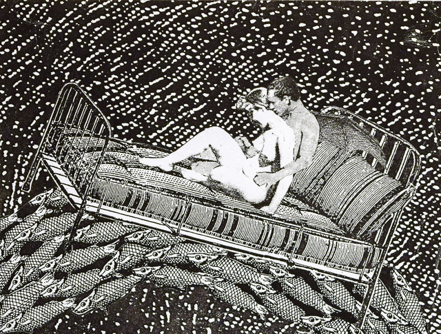, 'Phantom Canyon (lovers on bed over fish),' , Robischon Gallery