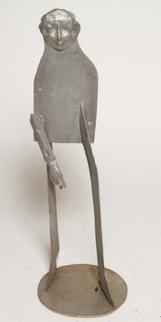 , '1960s Pop Art Unique Cast Aluminum Sculpture Cool Cat Bell Bottoms Americana,' 1960-1969, Lions Gallery