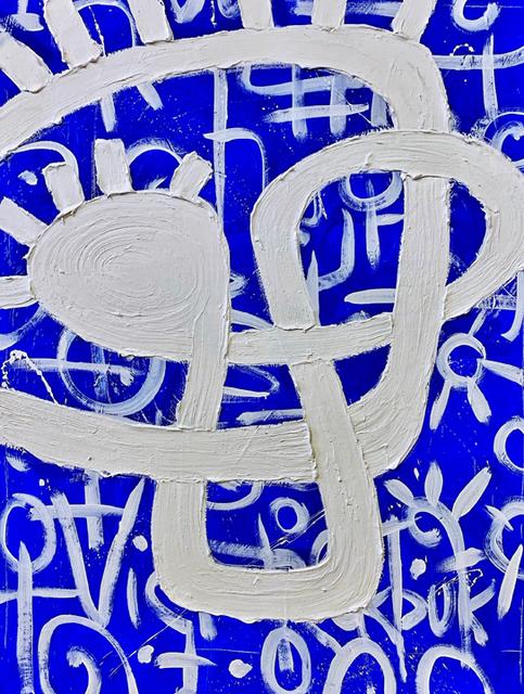 Victor Ekpuk, 'Composition in Blue 2 ', 2019, Aicon Gallery