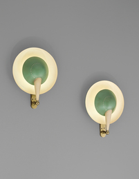 Pair of rare adjustable wall lights, model no. B. 4917