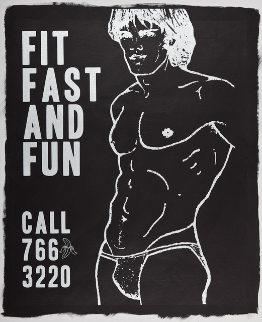 , 'Fit Fast and Fun (Black),' 2016, Lawrence Alkin Gallery