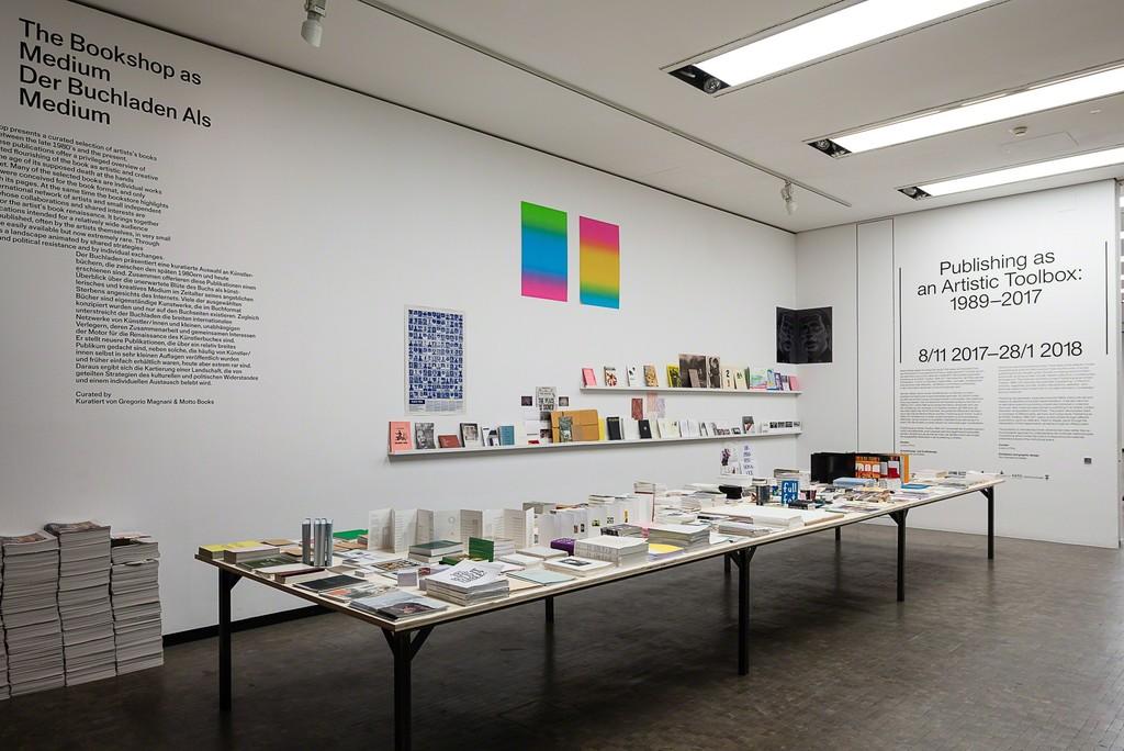 Exhibition view: Publishing as an Artistic Toolbox: 1989–2017, Kunsthalle Wien 2017, Photo: Jorit Aust