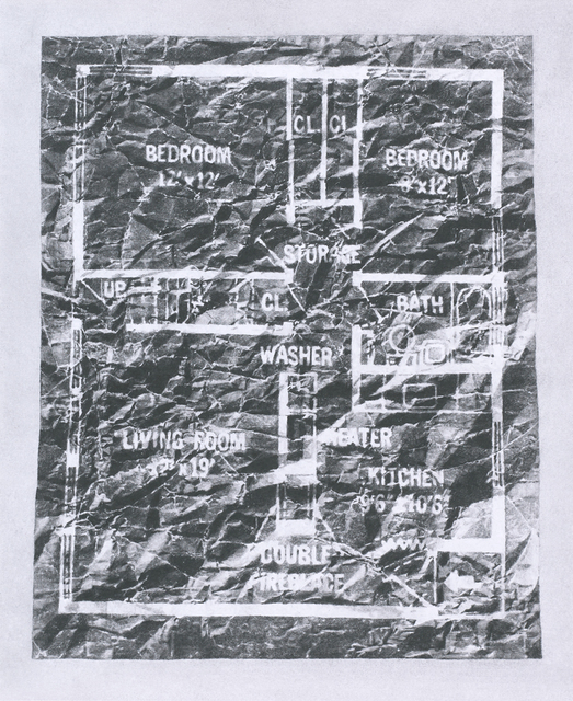, 'Levittown Rancher Floor Plan, 4 July 2015, 10:32 am,' 2015, Lora Reynolds Gallery