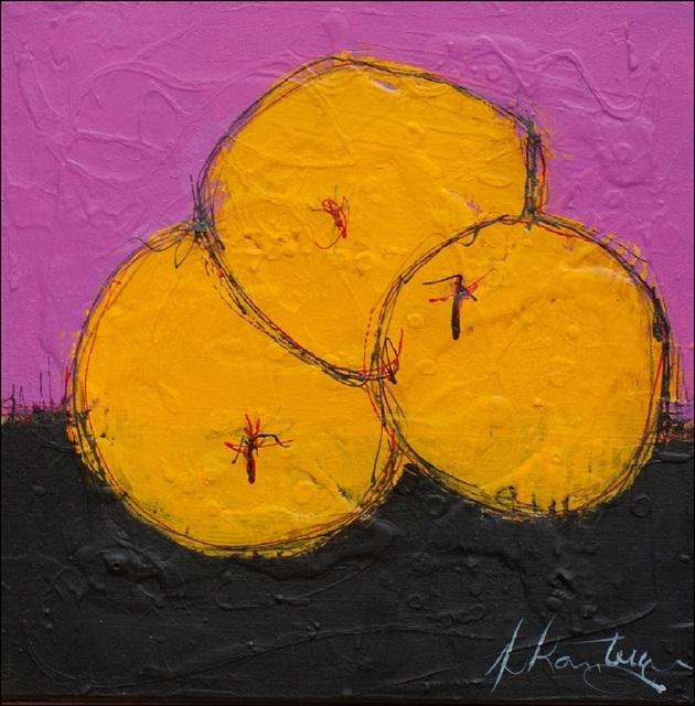 Danielle Lanteigne, 'Oranges, Noir et Rose', 2020, Painting, Acrylic on canvas, Thompson Landry Gallery