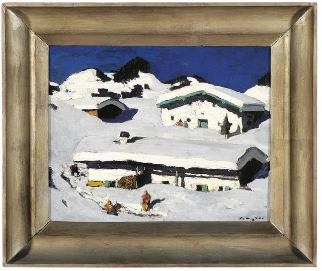 , 'Winter Idyll,' ca. 1930, Galerie Bei Der Albertina Zetter
