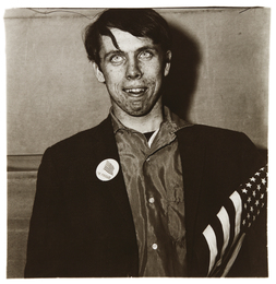 Diane Arbus, 'Patriotic Young Man with a Flag, N.Y.C.,' 1967, Phillips: Photographs (April 2017)
