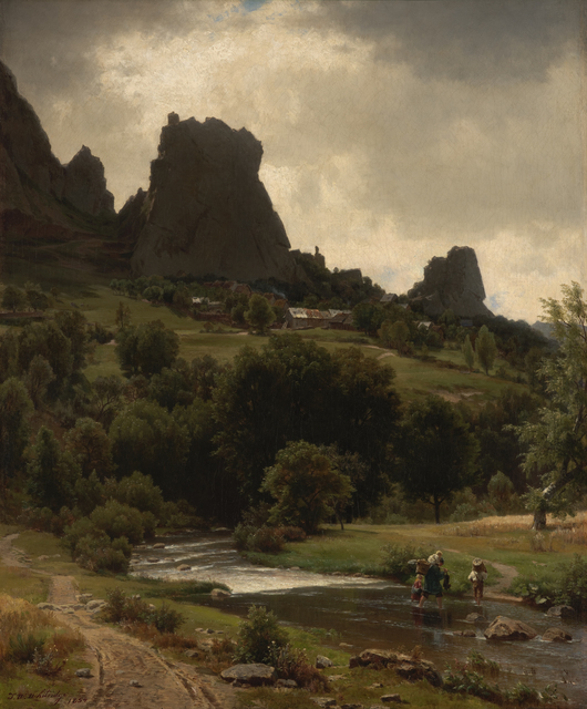 Worthington Whittredge, 'Summer Pastorale (View of Kallenfels)', 1853, Indianapolis Museum of Art at Newfields