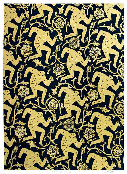 Cleon Peterson, 'Pattern of Corruption (Gold/Black) - Collab with Shepard Fairey', 2015, Black Book Gallery