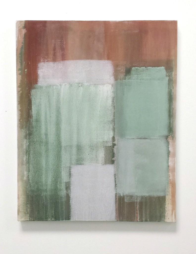 "Tony Beauvy, ""New Paintings"" Installation ""Untitled LX,"" 2014, Acrylic on canvas, 40"" x 30"""