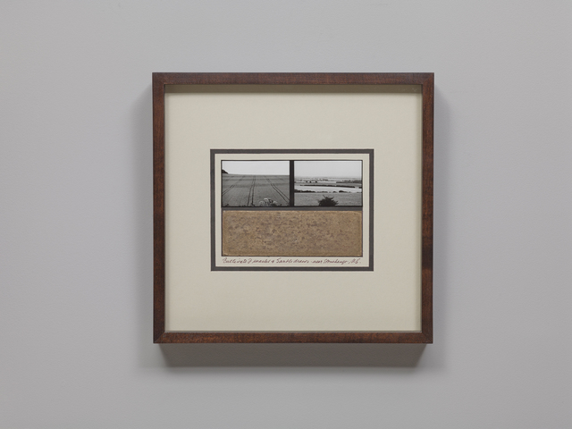 , 'Cultivated Marks & Earth Draws Near Stonehenge,' 1980-1981, Parafin