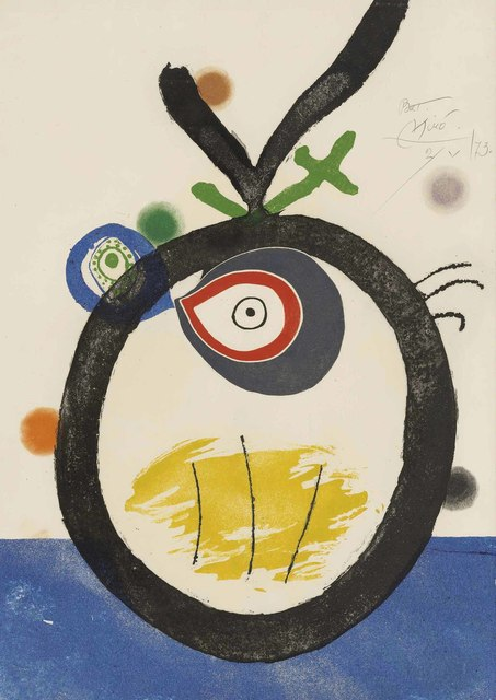 Joan Miró, 'Plate 3, from: Quatre colors aparien el món', 1974, Christie's