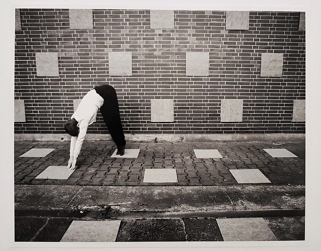 , 'Without Title (floor, wall, tiles, the artist),' 2012, Cerbera Gallery