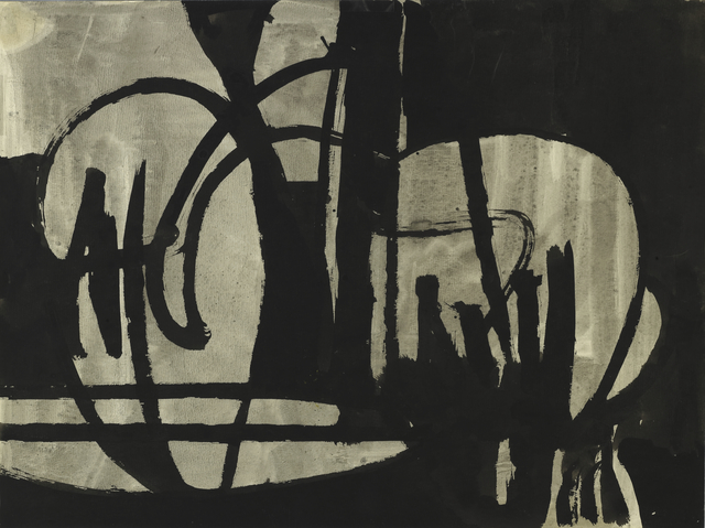 , 'Untitled (Black and Gray IV),' ca. 1950, Berry Campbell Gallery