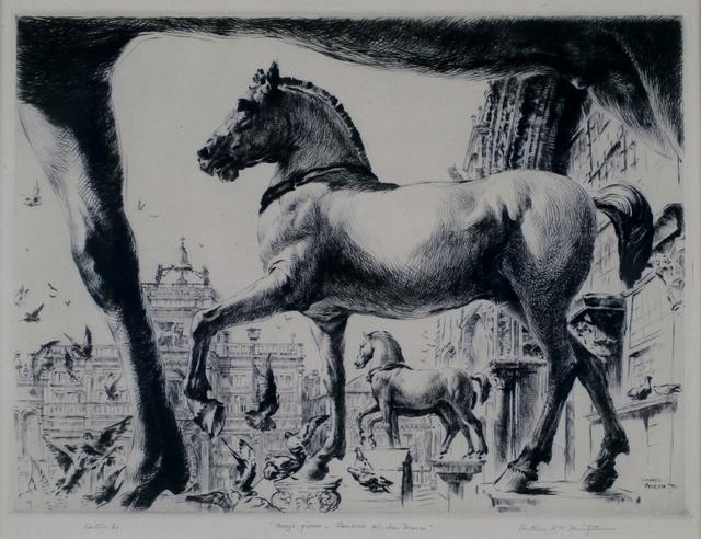 arthur heintzelman, 'Mezzo Giorno, San Marco, Venice', 1936, Private Collection, NY