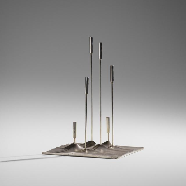 Tapio Wirkkala, 'Sol Lunaire Candelabrum', c. 1959, Design/Decorative Art, Silverplate, Rago/Wright