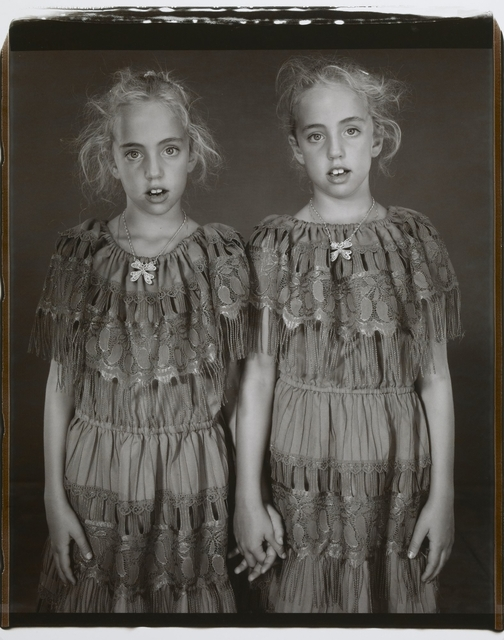 , 'Heather and Kelsey Dietrick, 7 years old, Kelsey older by 66 minutes,'  2002, J. Paul Getty Museum