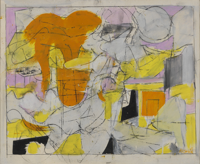 Milton Resnick, 'Untitled', 1947, Painting, Oil and charcoal on paper, The Milton Resnick and Pat Passlof Foundation