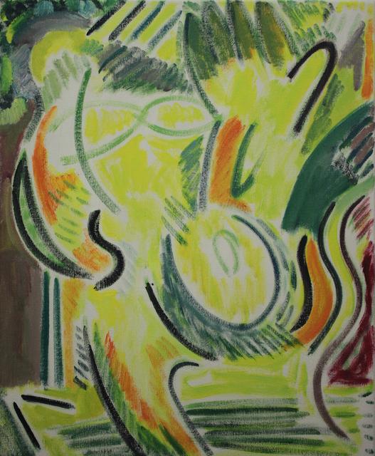 , 'Yellow and Orange Studio Self Portrait ,' 2017, Charlie Smith London