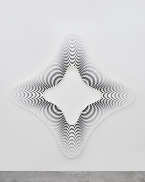 , 'Delay (square on the angles to black / 24),' 2017, PRAZ-DELAVALLADE
