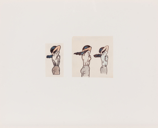 Untitled (Tying Up Hair), (a pair of works)