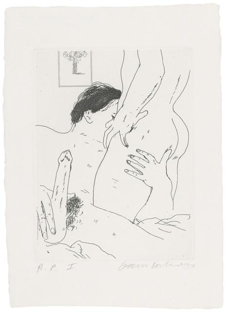 David Hockney, 'An Erotic Etching', 1975, Christie's