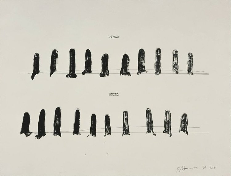 "BRUCE NAUMAN ""Verso Recto (State II)"", 1998"