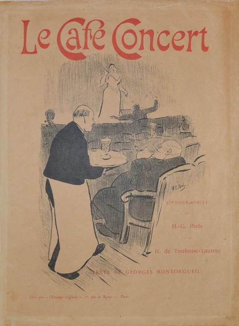, 'Portfolio Cover: Le Café Concert,' 1893, Ronin Gallery