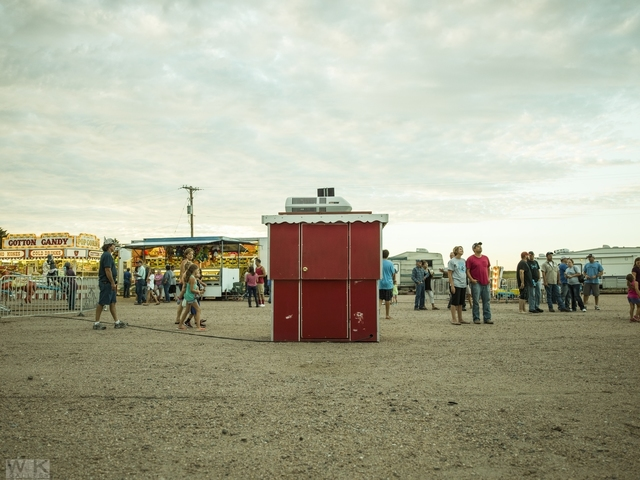 , 'Red Ticket Booth,' 2015, Weiss Katz Gallery
