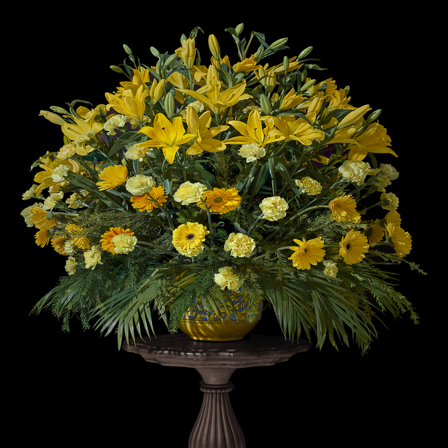 , 'Jaipur Wedding Bouquet with Lilies, Marigolds, and Carnations,' 2018, Galerie de Bellefeuille