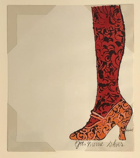 Andy Warhol, 'Gee Merrie Shoe', 1956, Woodward Gallery