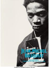 Portrait with Jack Kerouac- poster for Basquiat's final exhibition