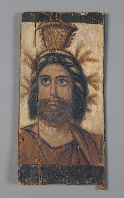 'Panel with Painted Image of Serapis', 100, J. Paul Getty Museum