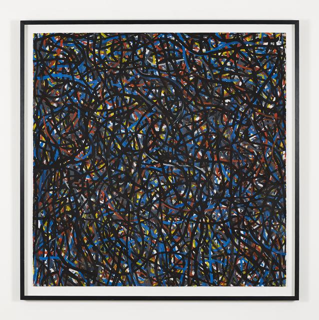 , 'Not Straight Brushstrokes (Black),' 1996, Galerie Greta Meert