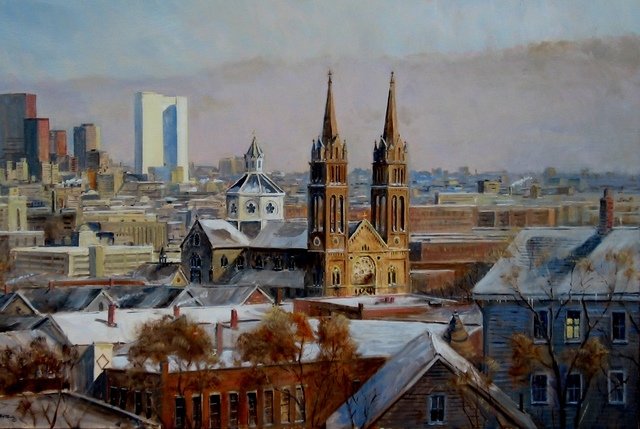 Frederick Kubitz, 'View of Boston from Parker Hill', 2019, The Guild of Boston Artists