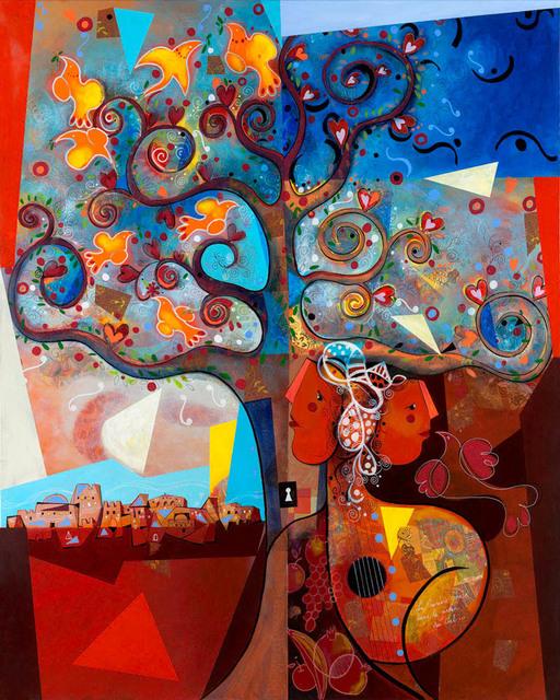 Yoël Benharrouche, 'La Première Phase Dans le Jardin Du Cièl (Lacquer)', 2015, Eden Fine Art