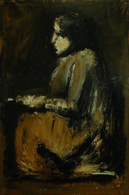 , 'Seated figure reading,' 1930-1035, Brun Fine Art
